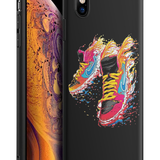 Husa iPhone X/XS - Silicon Matte - Sneakers
